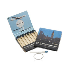 photo of matchbox and ring